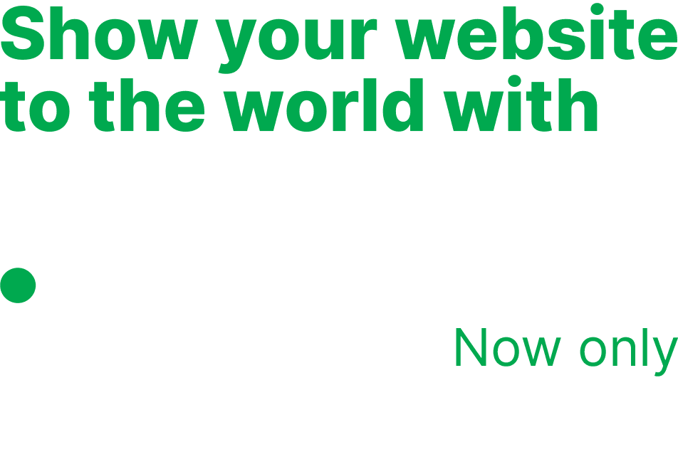 Show your website to the world with .ONLINE now only 4,45€